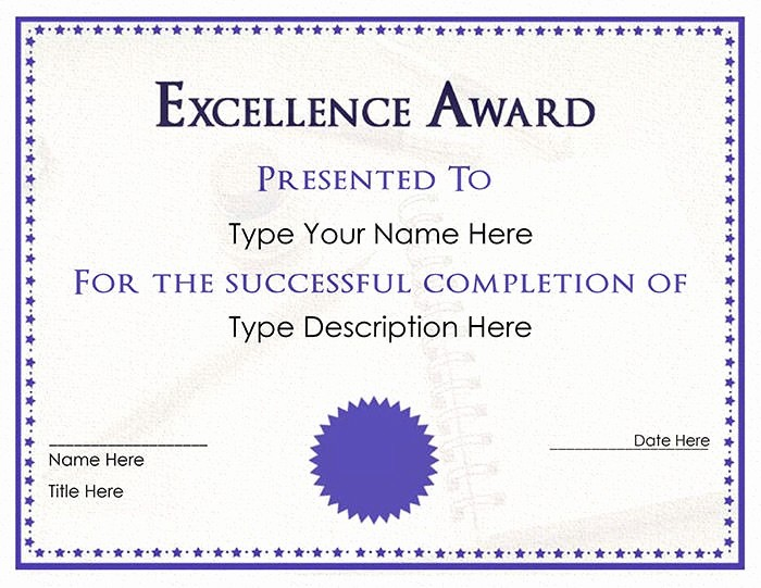 Free Downloadable Award Certificate Templates Beautiful 30 Free Printable Certificate Templates to Download