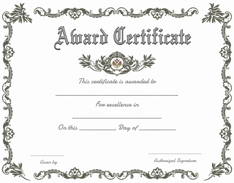 Free Downloadable Award Certificate Templates Elegant Royal Award Certificate Template Get Certificate Templates