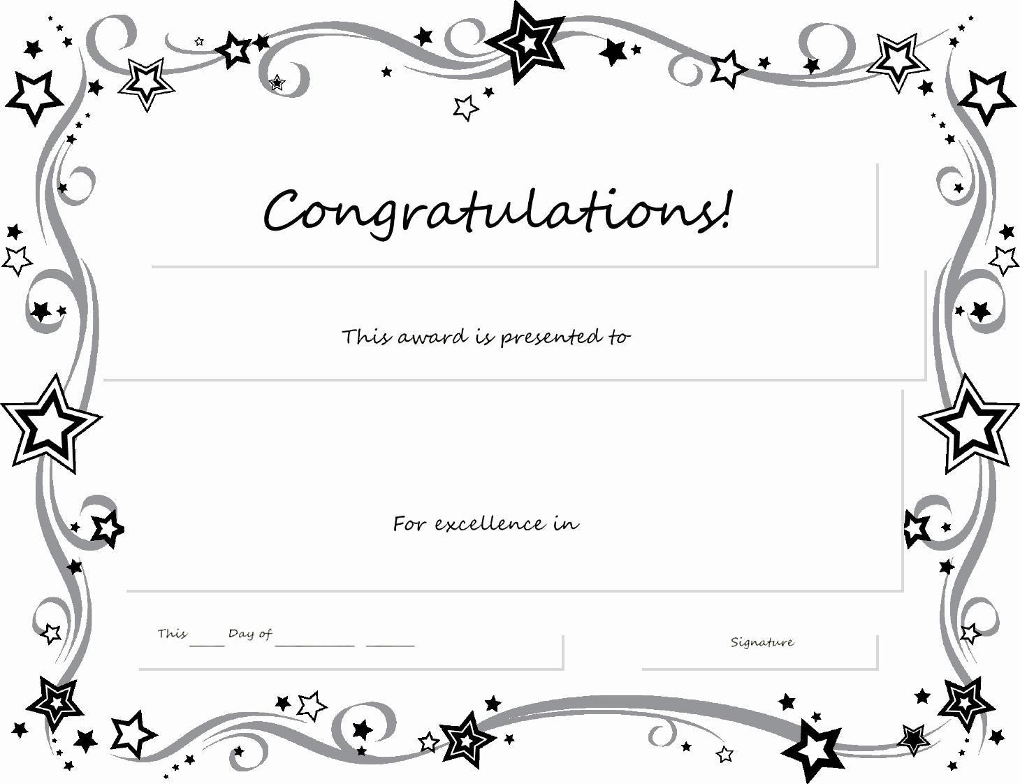 Free Downloadable Award Certificate Templates Fresh Certificate Template Word Certificate Templates Trakore