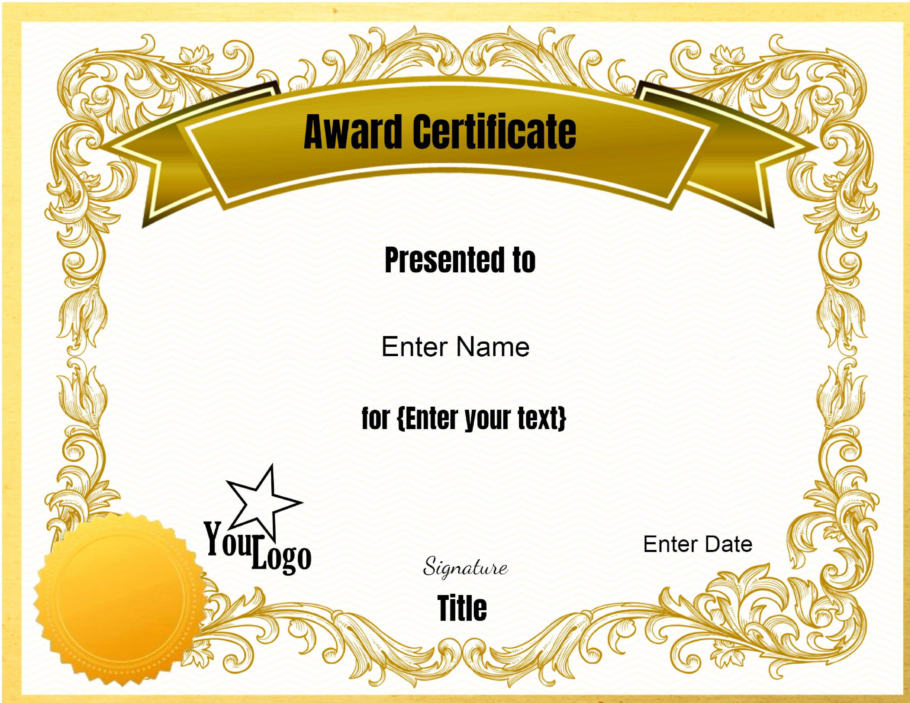 Free Downloadable Award Certificate Templates New Free Certificate Template] 28 30 Free Printable
