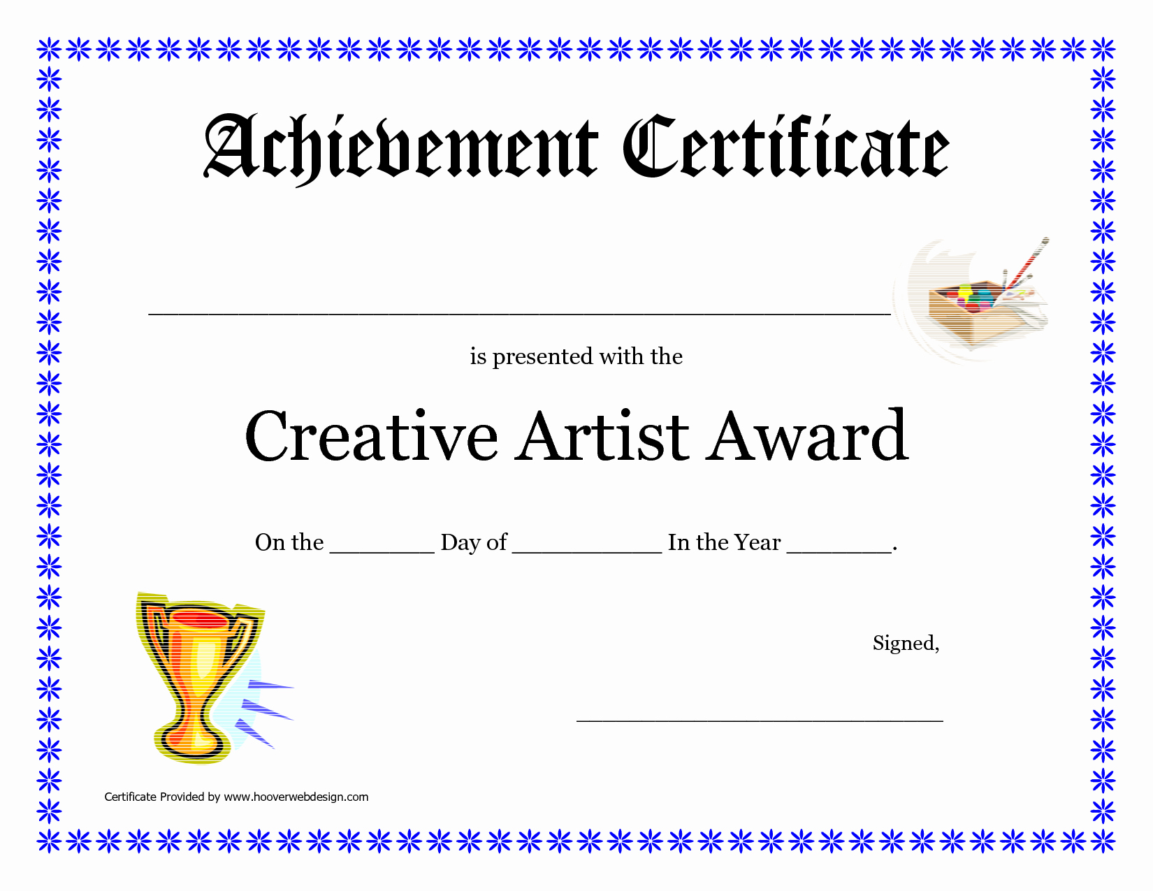 Free Downloadable Award Certificate Templates Unique 10 Best Of Art Award Certificate Blank Art Award