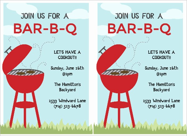 Free Downloadable Bbq Invitation Template Elegant 50 Bbq Invitation Templates