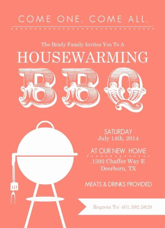 Free Downloadable Bbq Invitation Template Elegant Free Printable Housewarming Party Templates