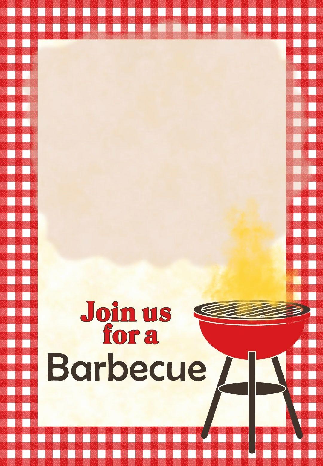Free Downloadable Bbq Invitation Template Fresh A Barbecue Free Printable Party Invitation Template