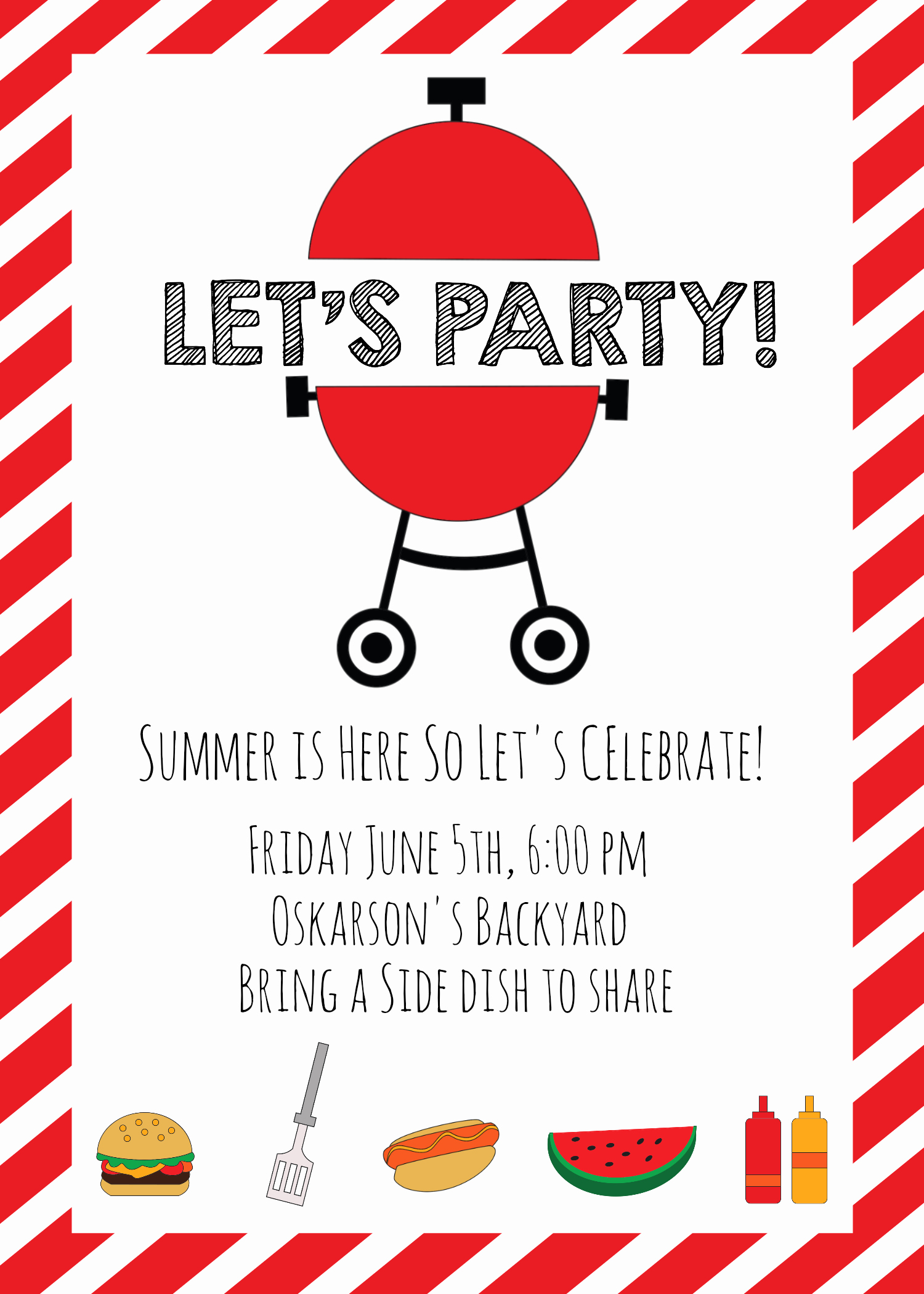 Free Downloadable Bbq Invitation Template Lovely Summer Bbq Invitations and Ideas