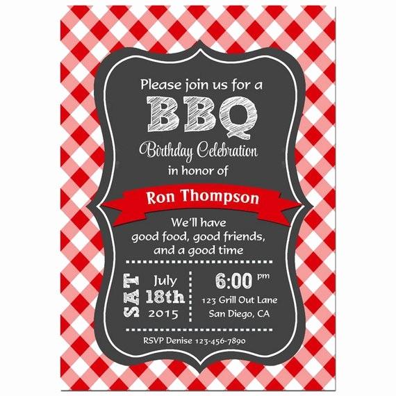 Free Downloadable Bbq Invitation Template Luxury Bbq Invitation Printable or Printed with Free Shipping
