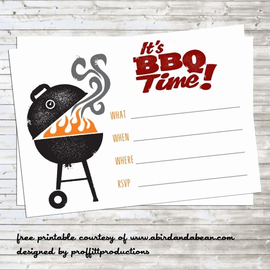 Free Downloadable Bbq Invitation Template New Bbq Party Invitation Free Printable A Bird and A Bean