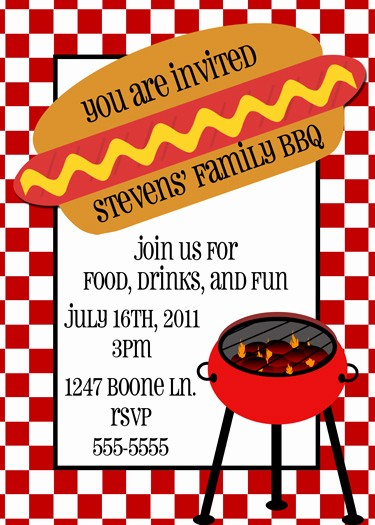 Free Downloadable Bbq Invitation Template New Other Great Stationary