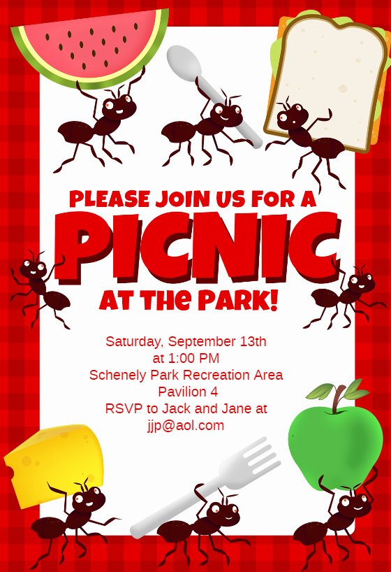 Free Downloadable Bbq Invitation Template New Picnic Party Free Dinner Party Invitation Template