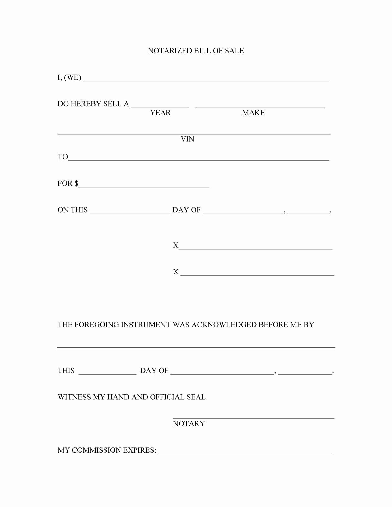 Free Downloadable Bill Of Sale Elegant 45 Fee Printable Bill Of Sale Templates Car Boat Gun
