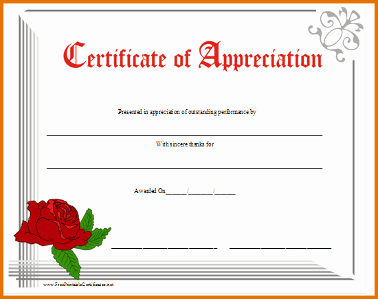 Free Downloadable Certificates Of Appreciation Best Of 8 Free Printable Certificate Of Appreciationreference