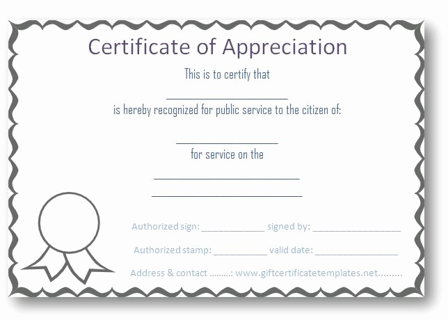 Free Downloadable Certificates Of Appreciation Best Of Free Certificate Of Appreciation Templates Certificate