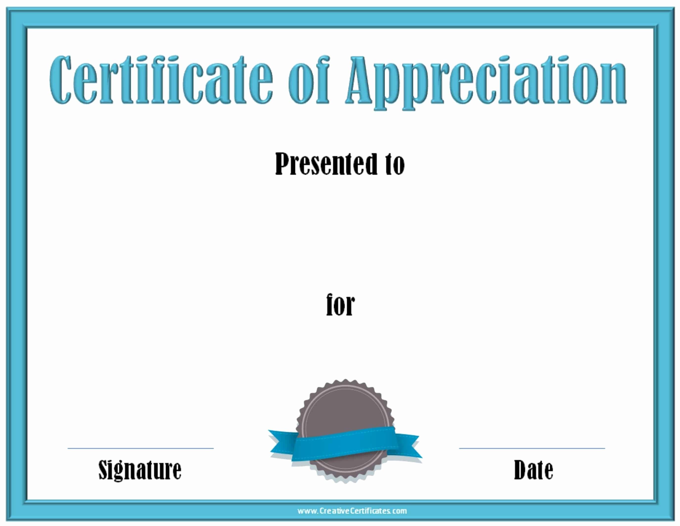 Free Downloadable Certificates Of Appreciation Best Of Free Editable Certificate Of Appreciation