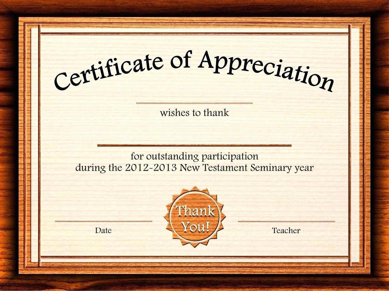 Free Downloadable Certificates Of Appreciation Elegant Template Customizable Certificate Template