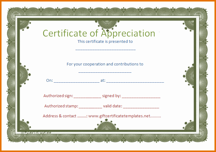 Free Downloadable Certificates Of Appreciation Inspirational 8 Free Printable Certificate Of Appreciationreference