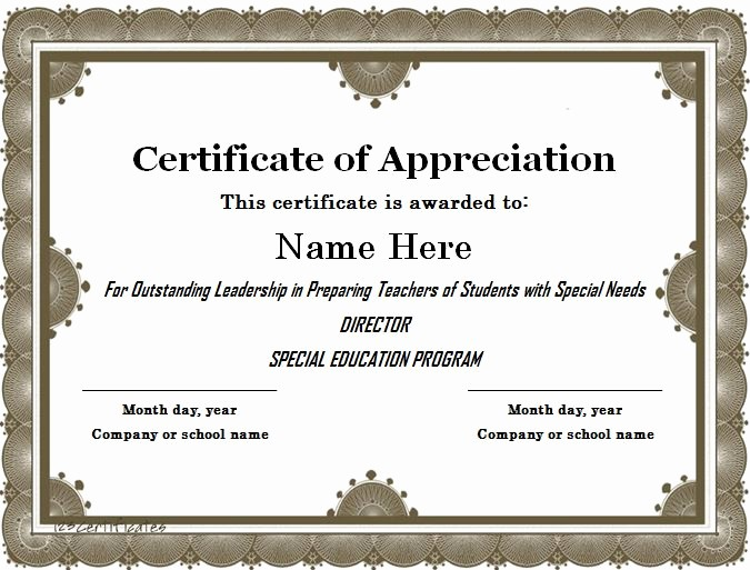 Free Downloadable Certificates Of Appreciation Lovely 31 Free Certificate Of Appreciation Templates and Letters