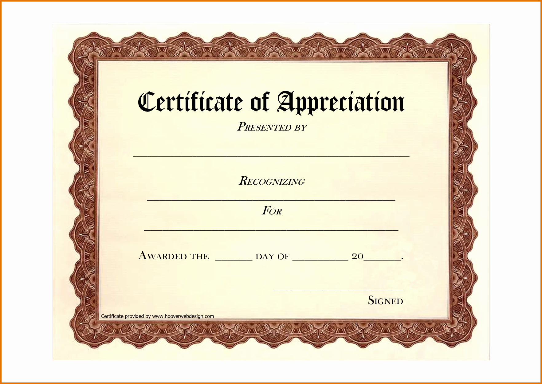 Free Downloadable Certificates Of Appreciation Lovely 8 Free Printable Certificate Of Appreciationreference