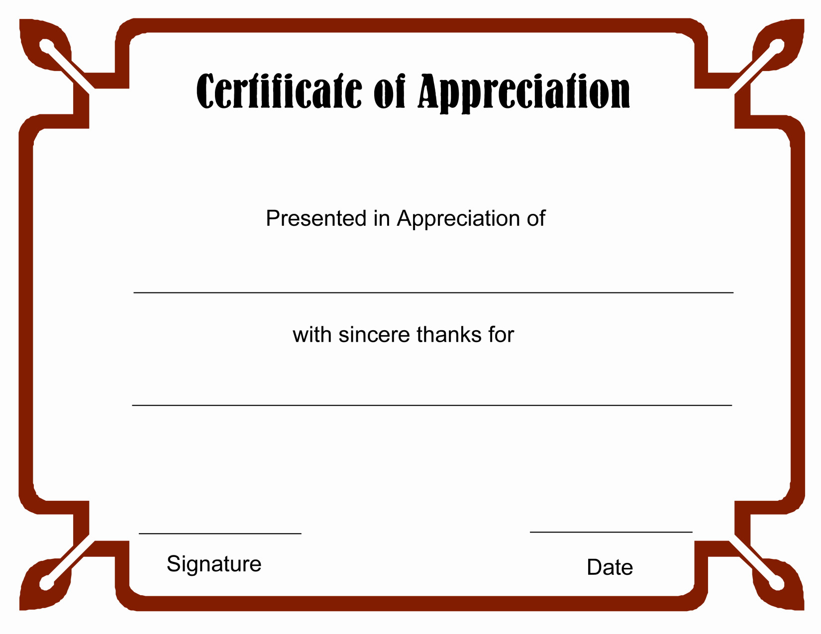 Free Downloadable Certificates Of Appreciation Luxury 8 Best Of Free Blank Certificate Appreciation