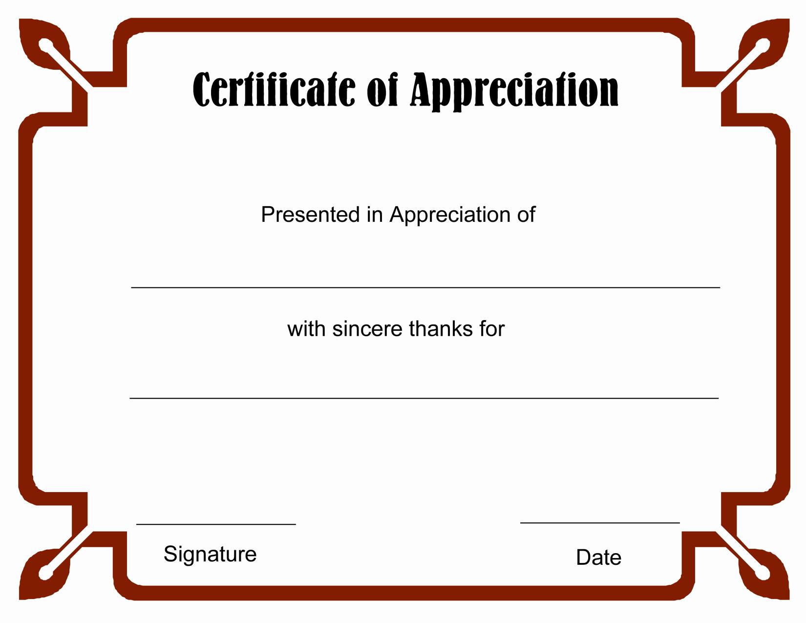 Free Downloadable Certificates Of Appreciation Luxury 8 Best Of Free Blank Certificate Appreciation