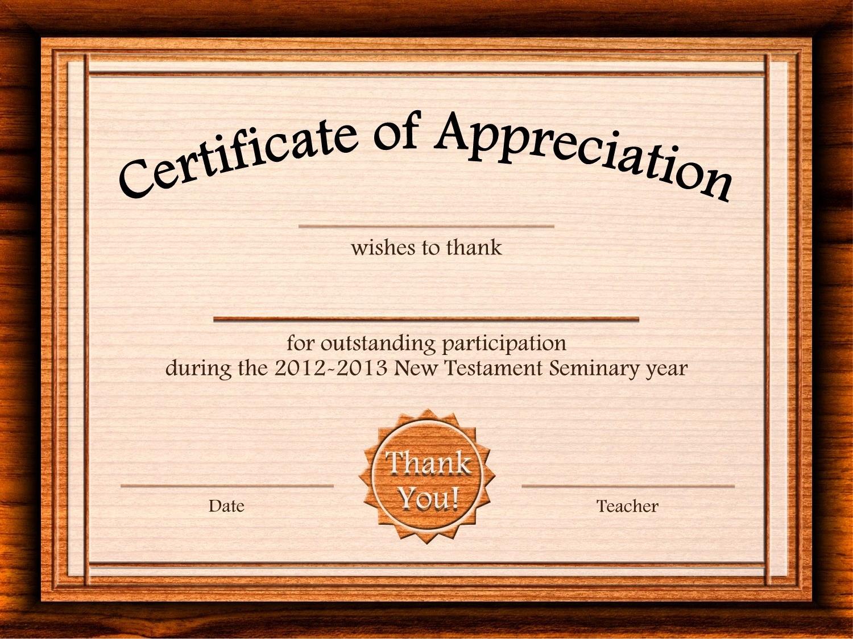 Free Downloadable Certificates Of Appreciation New Certificate Appreciation Template Free Printable