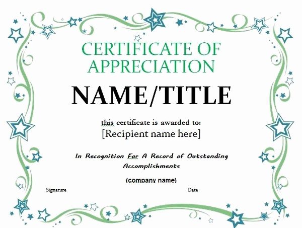 Free Downloadable Certificates Of Appreciation Unique 30 Free Certificate Of Appreciation Templates and Letters