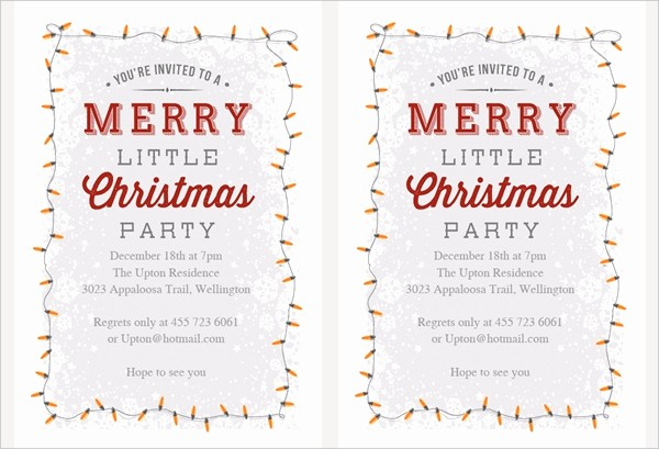 Free Downloadable Christmas Invitation Templates Awesome 32 Christmas Party Invitation Templates Psd Vector Ai