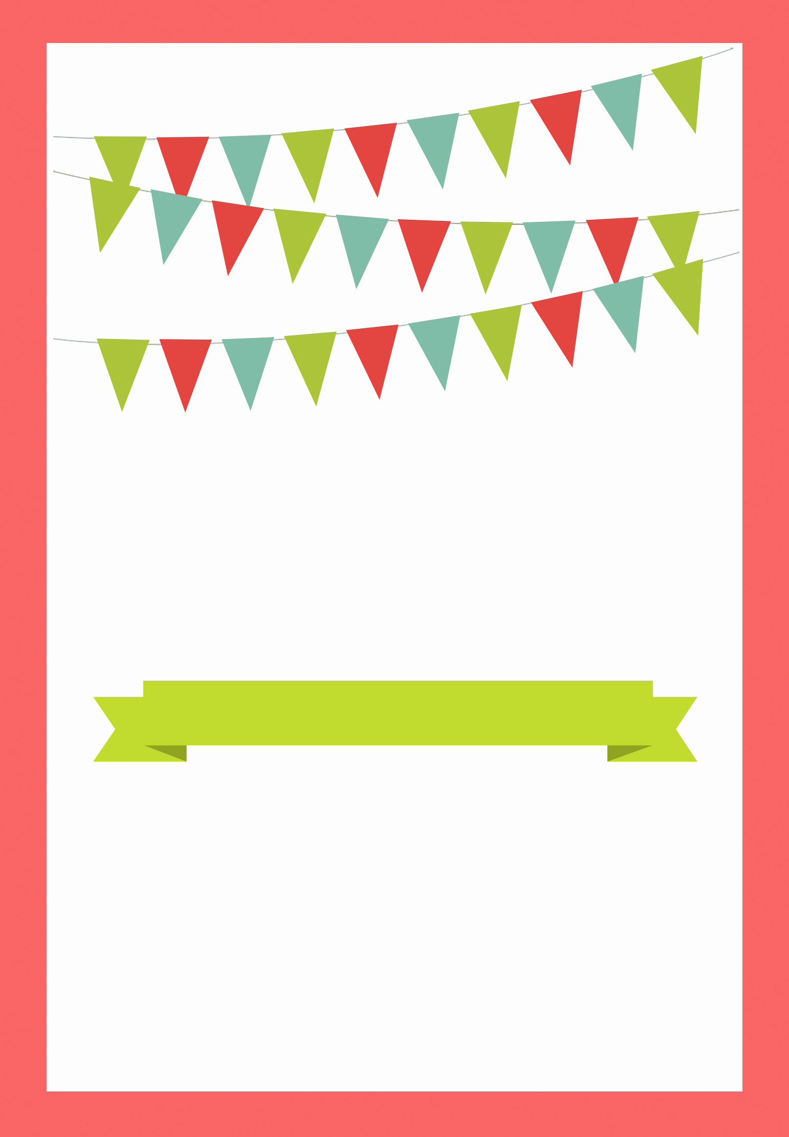 Free Downloadable Christmas Invitation Templates Awesome Red Pennants Free Printable Bbq Party Invitation