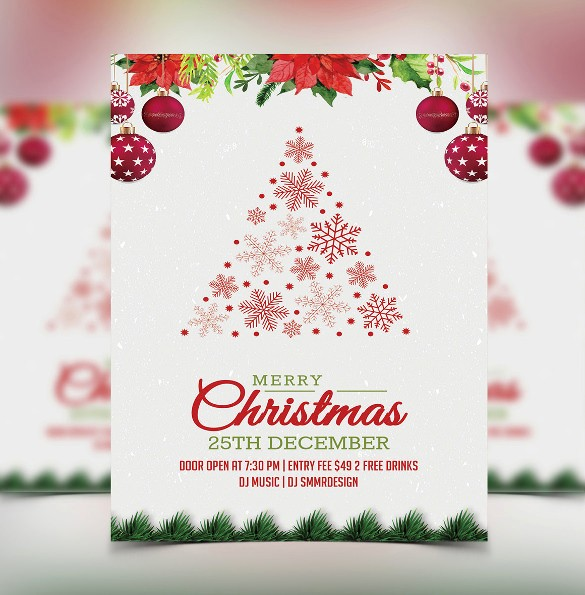 Free Downloadable Christmas Invitation Templates Beautiful 20 Christmas Invitation Templates Free Sample Example