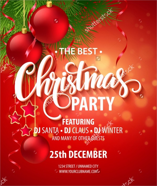 Free Downloadable Christmas Invitation Templates Beautiful 32 Christmas Party Invitation Templates Psd Vector Ai