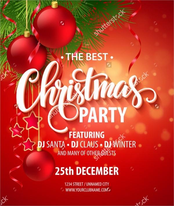 Free Downloadable Christmas Invitation Templates Beautiful 32 Christmas Party Invitation Templates Psd Vector Ai