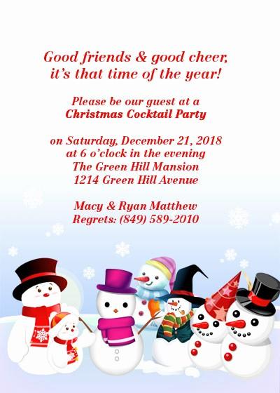 Free Downloadable Christmas Invitation Templates Beautiful Christmas Party Free Invitation Template ← Wedding