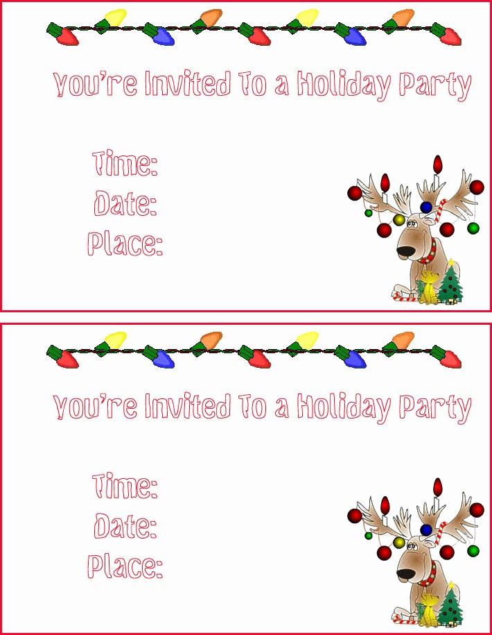 Free Downloadable Christmas Invitation Templates Beautiful Free Printable Christmas Invitation Templates – Happy