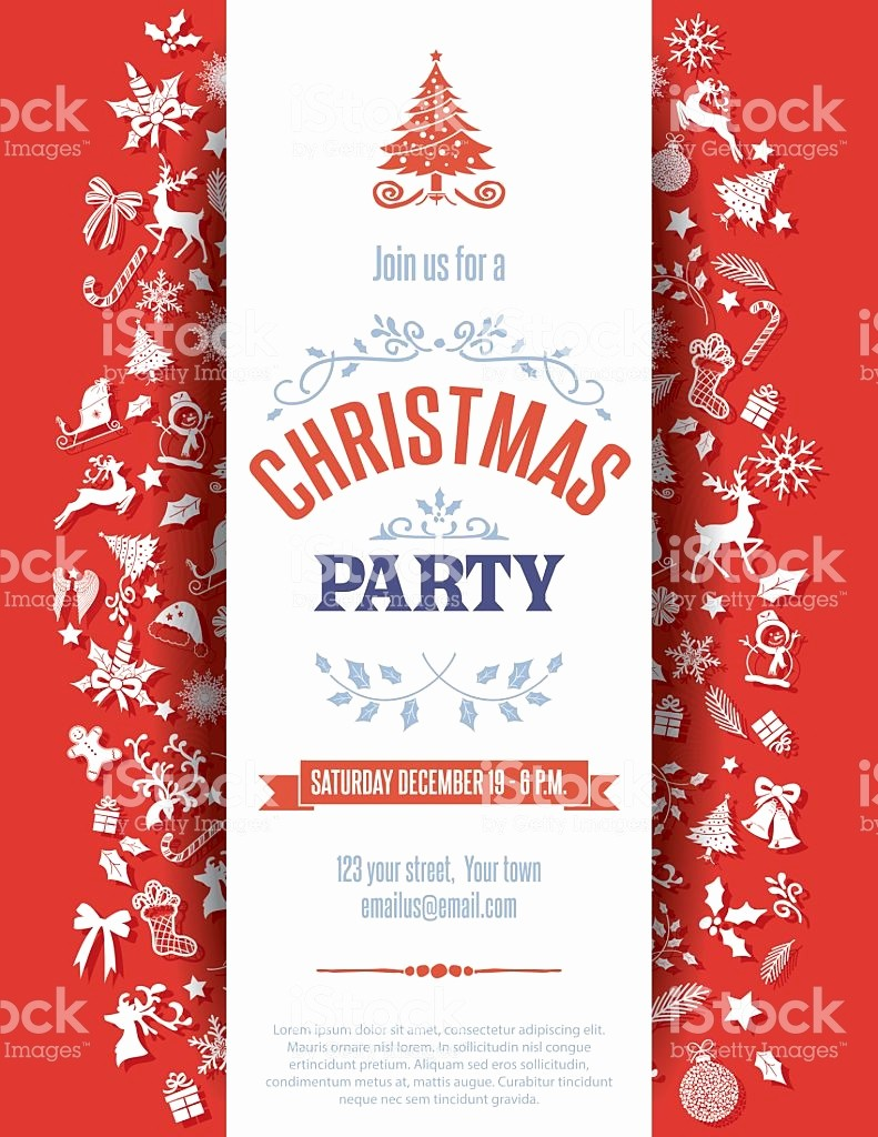 Free Downloadable Christmas Invitation Templates Beautiful Red Christmas Party Invitation Template Example