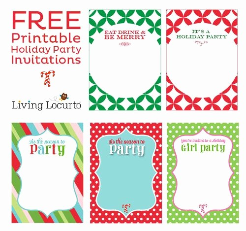 Free Downloadable Christmas Invitation Templates Best Of Free Printable Holiday Party Invitations