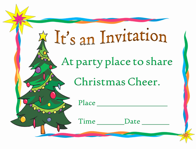 Free Downloadable Christmas Invitation Templates Elegant Printable Christmas Party Invitation Template