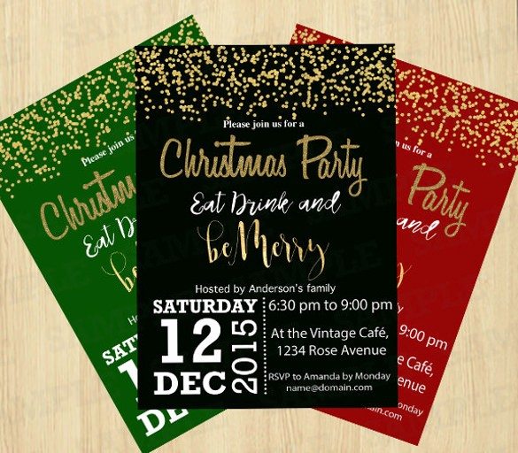 Free Downloadable Christmas Invitation Templates Fresh 20 Christmas Invitation Templates Free Sample Example