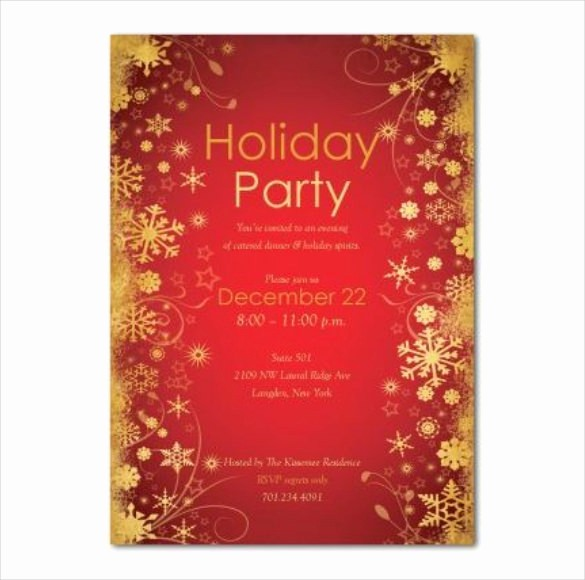 Free Downloadable Christmas Invitation Templates Inspirational Holiday Invitation Template – 17 Psd Vector Eps Ai Pdf