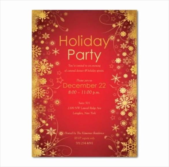 Free Downloadable Christmas Invitation Templates Inspirational Holiday Invitation Template – 17 Psd Vector Eps Ai Pdf