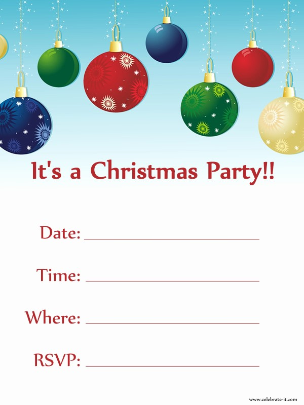 Free Downloadable Christmas Invitation Templates Lovely Printable Christmas Party Invitations