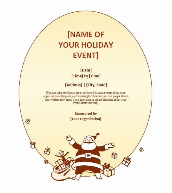Free Downloadable Christmas Invitation Templates New 69 Microsoft Invitation Templates Word