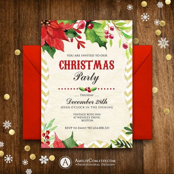 Free Downloadable Christmas Invitation Templates Unique 17 Best Ideas About Holiday Invitations On Pinterest