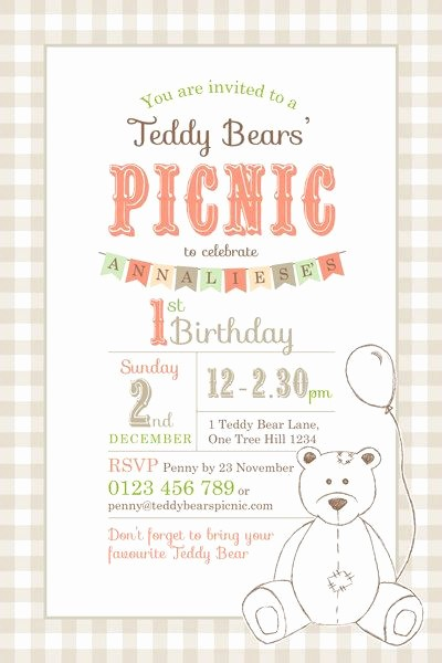 Free Downloadable Picnic Invitation Template Awesome Best 25 Teddy Bears Picnic Ideas On Pinterest
