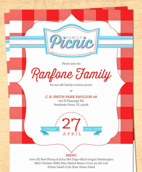 Free Downloadable Picnic Invitation Template Elegant 26 Picnic Invitation Templates Psd Word Ai