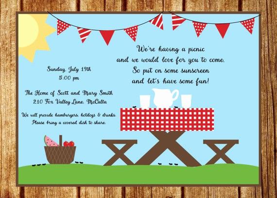 Free Downloadable Picnic Invitation Template Elegant Summer Picnic Invitation Summer Party Invitation Custom Park