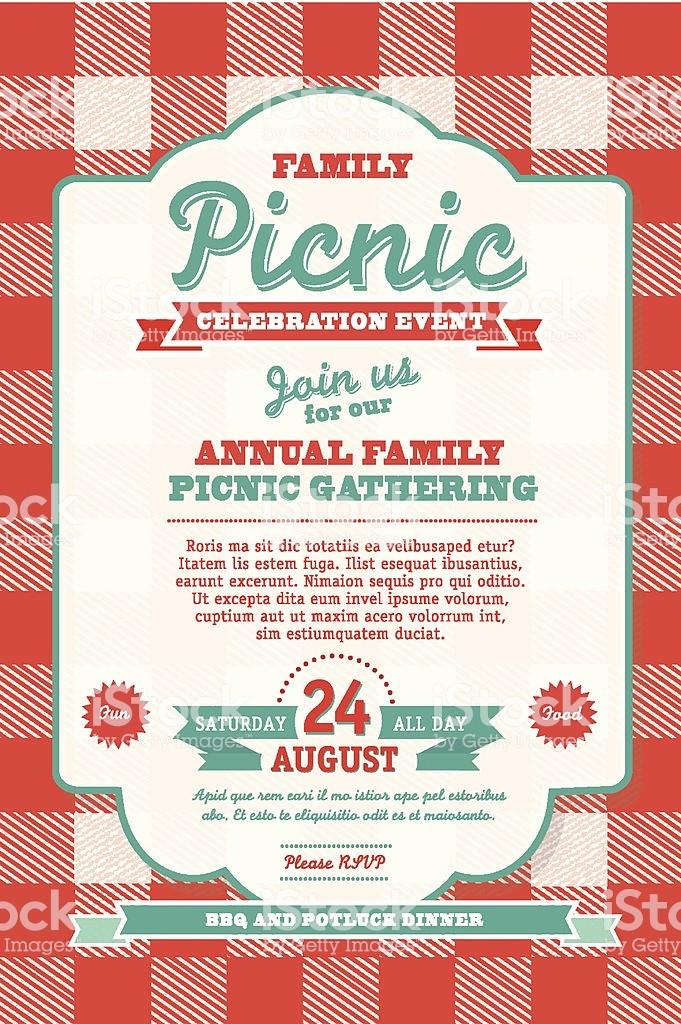 Free Downloadable Picnic Invitation Template Fresh Bbq Tablecloth Picnic Invitation Design Template Stock