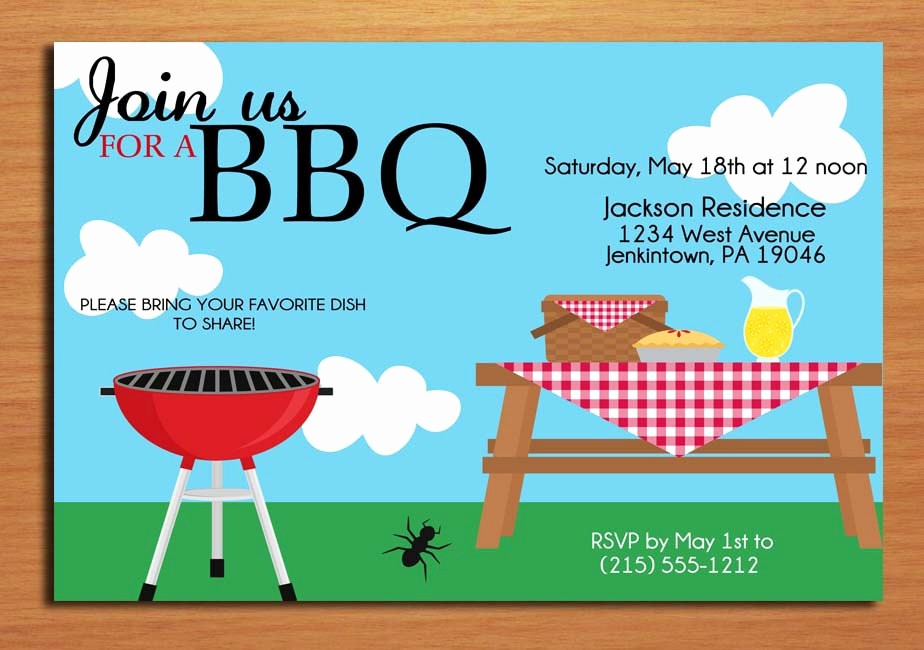 Free Downloadable Picnic Invitation Template Lovely Summer Picnic Customized Printable Bbq by