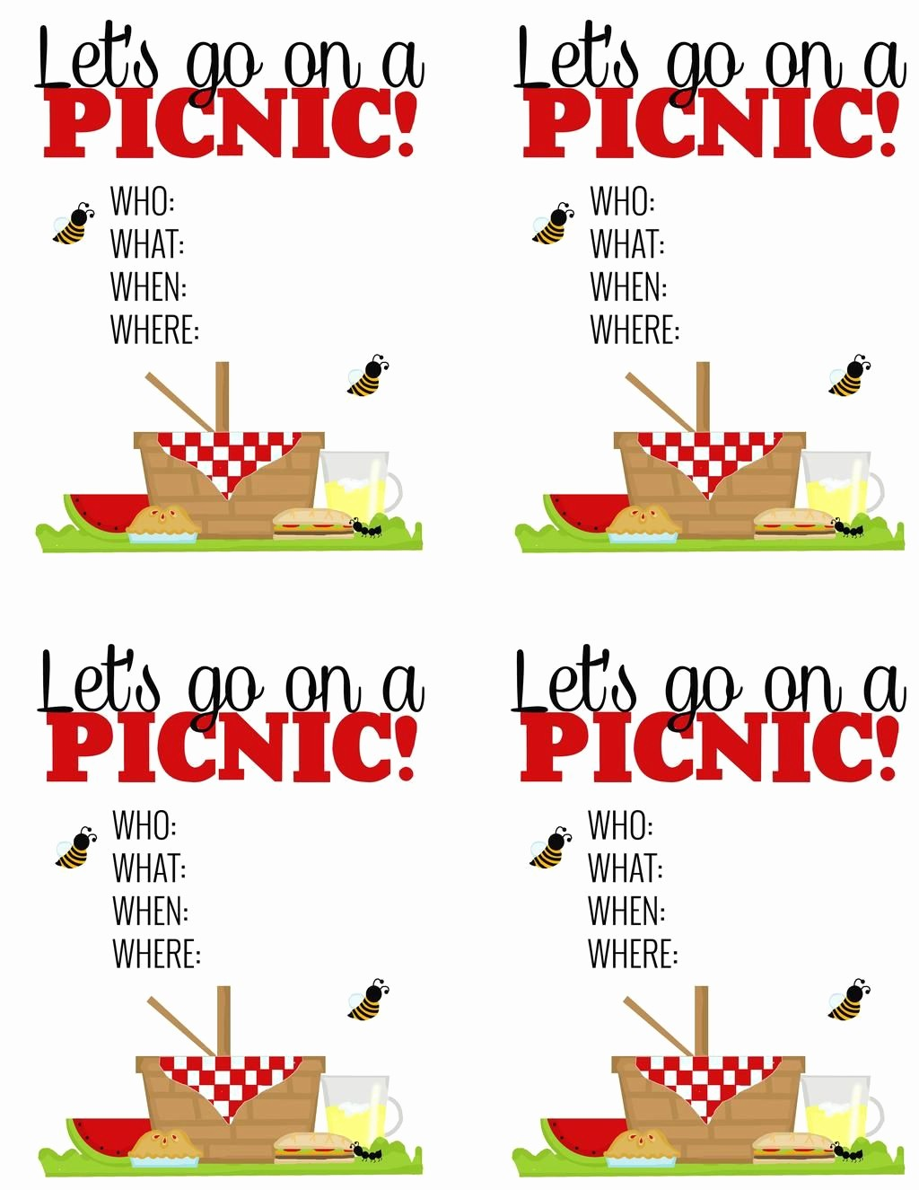 Free Downloadable Picnic Invitation Template Luxury Surprise Breakfast Picnic Free Printable Picnic