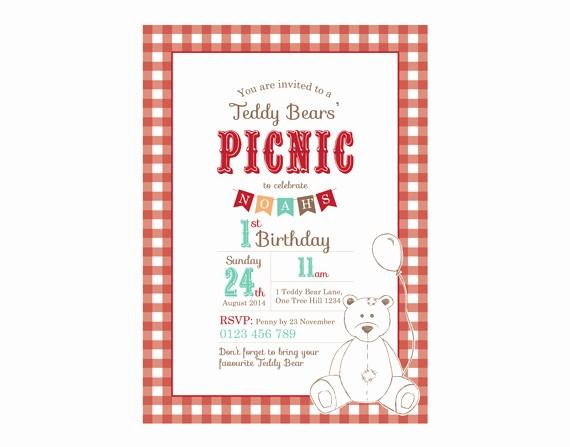 Free Downloadable Picnic Invitation Template Luxury Teddy Bears Picnic Invitations Teddy Bears Picnic