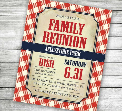 Free Downloadable Picnic Invitation Template New 35 Family Reunion Invitation Templates Psd Vector Eps