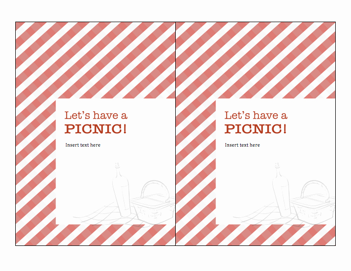 Free Downloadable Picnic Invitation Template Unique 301 Moved Permanently